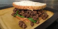 Quick, delicious hamburger idea, So easy! Loose Meat Sandwiches, Ground Beef, Burgers, Beef Recipes, Hamburger, Dinner, Cooking, Ethnic Recipes, Easy