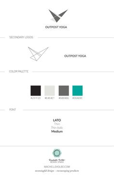 Outpost Yoga | Machelle Kolbo Design Studio | Minimal Brand Design, Brand Design, Branding, Logo Design, Simple Branding, Yoga Logo, Geometric Logo, Abstract Logo