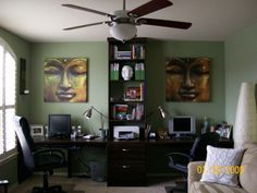 Another awesome, his/her office space.