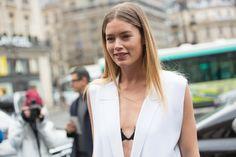 Les meilleurs look beauté des street looks de la Fashion Week automne-hiver 2016-2017 Doutzen Kroes à Paris
