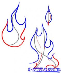 Step 5. How to Draw a Flame
