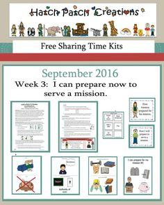 September 2016 Week 3: Free Sharing Time Kit:  I can prepare now to serve a…