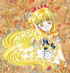 セーラーヴィーナス / 愛野美奈子 Sailor Venus / Minako Aino - artwork by Naoko Takeuchi for Sailor Moon