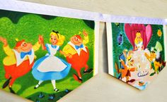 Too cute banner for Alice in wonderland themed party.