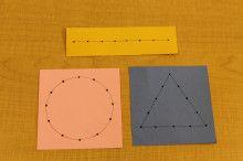 縫い刺し (日常生活の練習) | モンテッソーリ国際学園のブログ