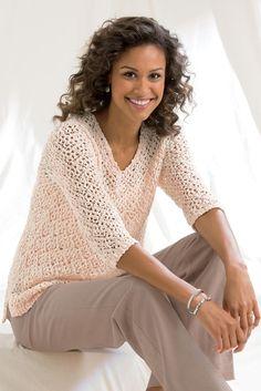 Open Stitch Two-Tone Sweater: Classic Women's Clothing from #ChadwicksofBoston $39.99 - $44.99                                                                                                                                                                                                                                                                             $14.99 - $44.99