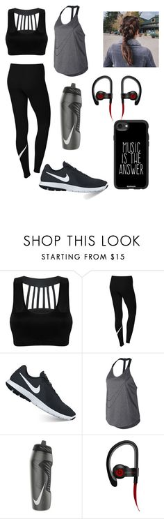 """""""Workout"""" by rachellcardenas on Polyvore featuring NIKE, Beats by Dr. Dre and Casetify"""