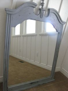 http://micheleravendesigns.blogspot.com/2010/10/ballard-look-alike-mirror.html  I have this mirror!  BUT I need to redo it, and here's one way.