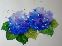 Nel's Everyday Painting: Hydrangea Watercolors - SOLD
