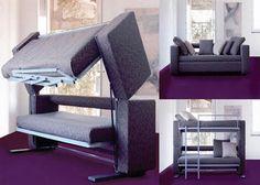 amazing sofa to bunk bed transformation - Etagenbett Couch Lego Film