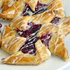 Breakfast Pastries:  Raspberry Pinwheels, Easy Cinnamon Roll Danish,Turnovers or Fruit Danish; one easy, versatile, short-cut pastry dough recipe can be used to make all of them. Plan your weekend baking now!