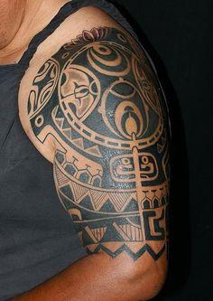 Polynesian Tattoo By Javier Acero. Tattoo & Co. Miami  | par miamitattooshop
