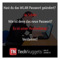 #Technuggets #Witz #WLAN #Password #Hochzeitstag