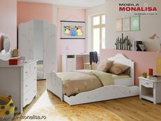 Dormitor copii ieftin MDF Alb Sweet Utila, Toddler Bed, Furniture, Home Decor, Simple Lines, Child Bed, Decoration Home, Room Decor, Home Furnishings