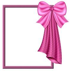 Pink Bow Transparent Frame.