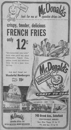 Throwback McDonald's french fries---check out the price!