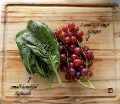 Spinach and Grape Juicing Recipe For Children