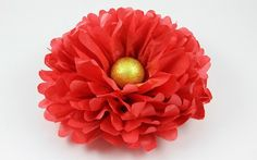 Bastelanleitung: Blume aus Seidenpapier