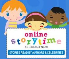 JACKPOT!!!!    Barnes and Noble has an online storytime.  Stories read by authors and celebrities which can be played right on the computer and are FREE .