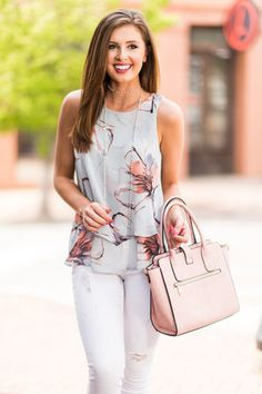 Fixated On Fab Tank, Lilac Gray