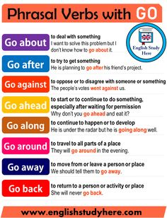 Phrasal Verbs with Go in English: Definitions and Example Sentences - StudyPK - . - Phrasal Verbs with Go in English: Definitions and Example Sentences – StudyPK – - # English Sentences, English Vocabulary Words, Learn English Words, Grammar And Vocabulary, English Idioms, English Phrases, English Study, English Lessons, English English