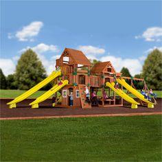 Backyard Odyssey Swing Sets - Safari Wooden Swing Set #header #features