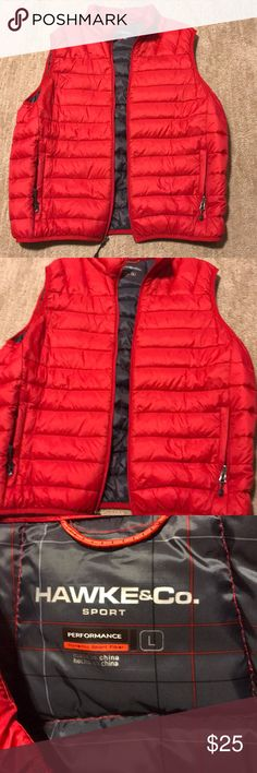 Hawke & Co. Vest Brand new without tags!! Never worn! Men's Hawke & Co. Vest, size large. Red with dark grey inside Hawke & Co Jackets & Coats Vests