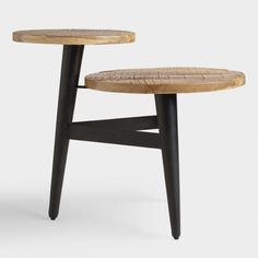 Wood and Metal Multi Level Accent Table - v3