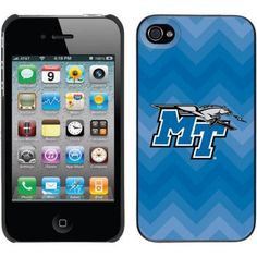 Middle Tennessee State Line Chevron Design on iPhone 4s/4 Thinshield Snap-On Case by Coveroo