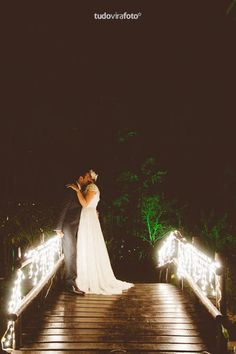Wedding, bride, groom, lighting