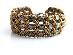 Náramky - Honeycomb zlatisto hnedý - 6476995_