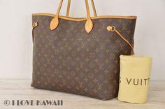 Louis Vuitton Monogram Neverfull GM Tote Bag M40157