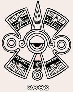 A tattoo of Hunab Ku, the Mayan symbol for unity, balance