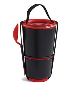 Look at this black + blum Black & Red Lunch Pot on #zulily today!