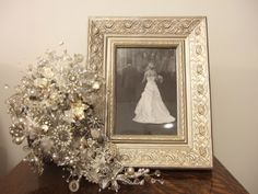 Vintage jewelry bridal bouquet... LOVE this!