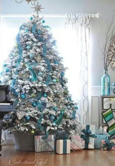 Blue tree Christmas
