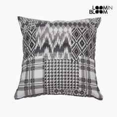 Cojín carla patchwork negro by Loom In Bloom EUR Tatami, Patchwork Cushion, Bloom, Polyester Material, Home Textile, Cushion Covers, Textiles, Throw Pillows, Ebay