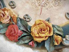 3D Λουλούδια από δίσκους ντεμακιγιάζ...! ArteDiDeco [CC] Handmade Flowers, Clock, Rose, Plants, Diy, Painting, Watch, Pink, Bricolage
