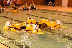 It is important for RNLI volunteers to know how to survive in the water, so we booked a session at Burnham Pool on Wednesday evening.