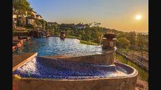 Mosaic pool slide