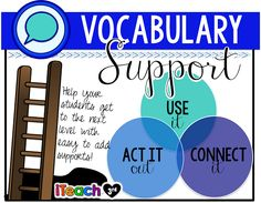 Vocabulary Supports to Start Using Now!