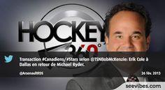 26 Février 2013: Ça bouge du côté des Canadiens de Montréal, et le message buzz sur Twitter au Québec avec Hockey 360 et David Arsenault - #Seevibes #TopRetweet #Twitter #Hockey360 #RDS - https://twitter.com/ArsenaultRDS/status/306542234738757633