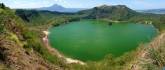 Taal crater lake, largest volcano crater lake in the world @ Tagaytay - Phillipines. An island within a lake within a crater in a lake in a crater! Stunning views