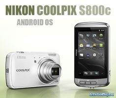 Nikon Coolpix S800c. Foto's maken met je fototoestel en direct op Facebook zetten... Fotocamera met Android. Prachtig!
