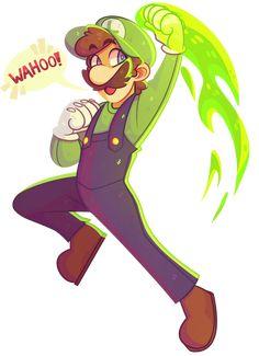 fawnshy:Lets-a go! fawnshy:Lets-a go! Super Mario Bros, Super Mario Brothers, Super Smash Bros, Nintendo Game, Nintendo Characters, We Bare Bears Human, Luigi And Daisy, Mario Fan Art, Mundo Dos Games