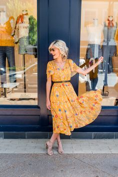 Ruffled Midi Dress with ModCloth