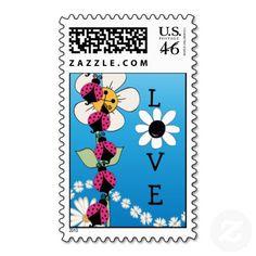 Pink Ladybug Love Postage