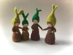 Root-child.Waldorf. Wet  felted .Flower by FilzArts on Etsy