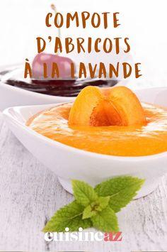 Un mélange d'abricots et de lavande, voilà qui est très original pour une compote.  #recette#cuisine#compote#abricot #lavande#fruit Muscat, Fruit, Cantaloupe, Food, Lavender Flowers, Essen, Meals, Yemek, Eten