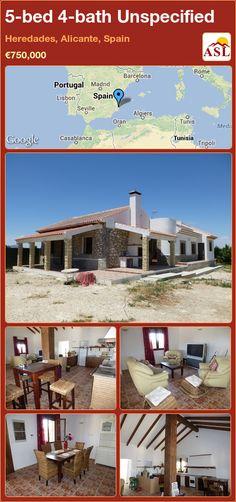 5-bed 4-bath Unspecified in Heredades, Alicante, Spain ►€750,000 #PropertyForSaleInSpain